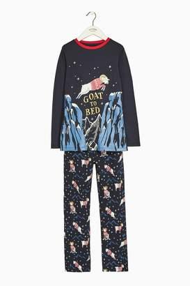 Next Boys FatFace Navy Gordon Goat Pyjama Set