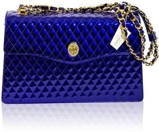 Valentino Orlandi Italian Designer Cobalt Chanel Leather Purse Chain Bag