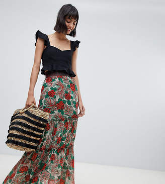 Anna Sui Exclusive Mexicana Midaxi Skirt
