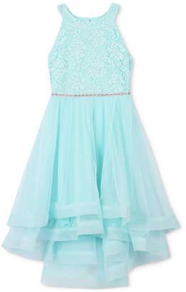 Speechless Glitter Lace Dress, Big Girls