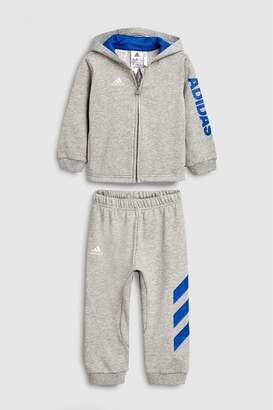 9a0e820960b3 at Next · Next Boys adidas Grey Linear Full Zip Tracksuit