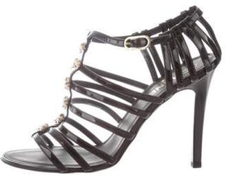 Chanel Multistrap Bow Sandals Black Multistrap Bow Sandals