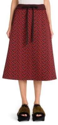 Marni Printed Compact Jersey A-line Skirt
