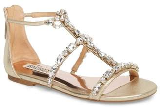 Badgley Mischka Warren Crystal Embellished Sandal (Women)