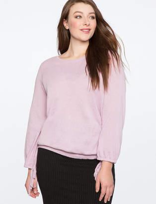 ELOQUII Tie Cuff Sweater