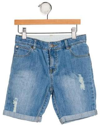 Stella McCartney Girls' Distressed Denim Shorts
