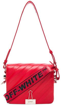 Off-White Diagonal Padded Flap Bag