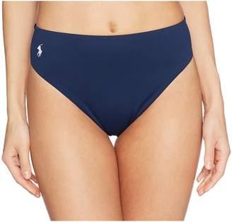 Polo Ralph Lauren Icon Classic High-Waist French Cut Leg Bottoms Women's Swimwear
