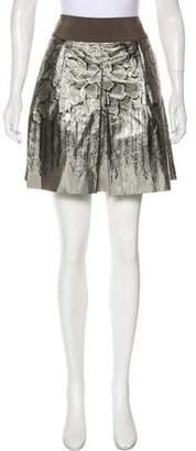 Philosophy di Alberta Ferretti Metallic A-Line Skirt