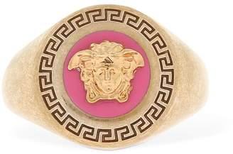 Versace Enameled Medusa Ring