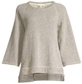 Eileen Fisher Organic Cotton Bell-Sleeve Top