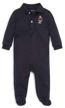 Ralph Lauren Baby Boy's Polo Bear Footed Coverall