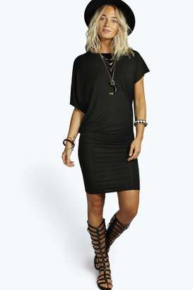 boohoo Nancy Draped Mini Dress
