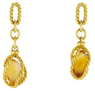 David Yurman 18K Citrine Lantana Drop Earrings