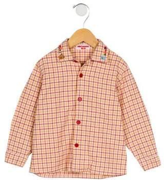 Mikihouse Miki House Boys' Checked Embroidered Shirt