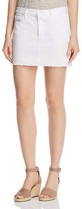 J Brand Bonny Mid Rise Denim Mini Skirt in White