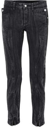 Givenchy Distressed Mid-rise Slim-leg Jeans - Black
