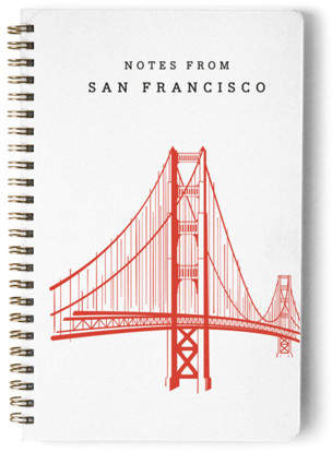 Golden Gate Bridge Day Planner, Notebook, or Address Book