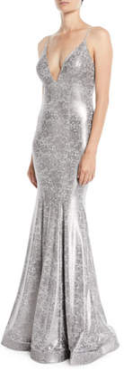 Jovani Animal Foiled Sleeveless Trumpet Gown