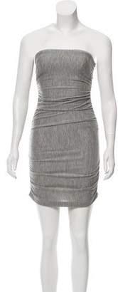 Halston Strapless Ruched Dress
