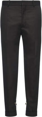 Alexander McQueen Zip-Detailed Cotton-Gabardine Skinny Pants