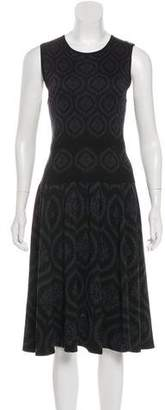Sophie Theallet Silk Abstract Midi Dress