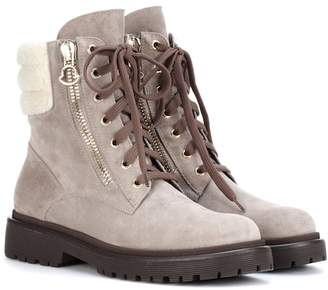 Moncler New Viviane suede ankle boots