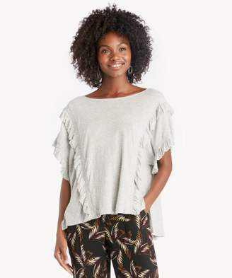 Sole Society Ruffle Front/Cuff Drop Shoulder Top