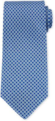 Salvatore Ferragamo Girella Diamond Silk Tie, Blue
