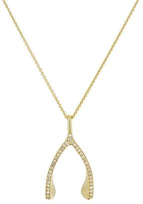 Jennifer Meyer Women's Diamond Wishbone Pendant Necklace