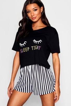 boohoo Sleep Tight PJ Short Set