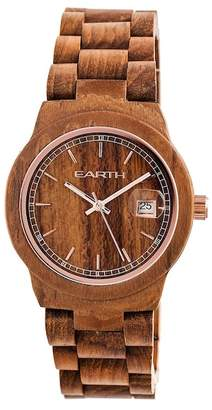 Earth Wood Biscayne Eco-Friendly Sustainable Wood Bracelet Watch, 38mm