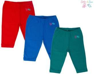 SAM. Sofie & Organic Cotton 3 pack Combo Baby Pajama - Red, Royal Blue & Green
