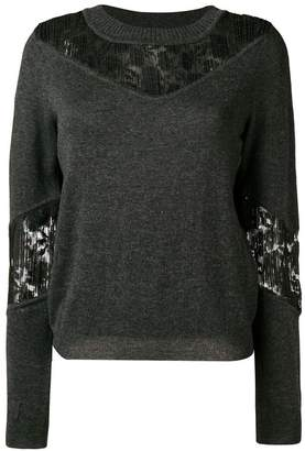 See by Chloe lace panel sweater