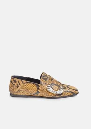 Proenza Schouler Snake Skin Buckle Loafers