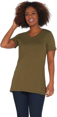 Isaac Mizrahi Live! Essentials V-Neck Tunic w/ Side Slits