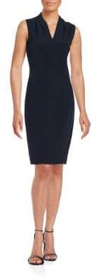 T Tahari Tonya Pleated Sheath Dress
