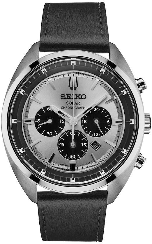 SeikoSeiko Men's Recraft Leather Solar Chronograph Watch - SSC569