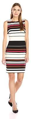 Calvin Klein Women's Ottoman Stripe Sheath Dress