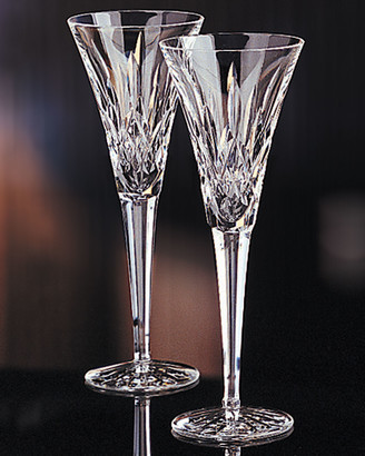 "Waterford Crystal Lismore"" Crystal Toasting Flutes"""