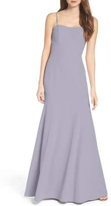 WTOO Convertible Strap Chiffon Gown