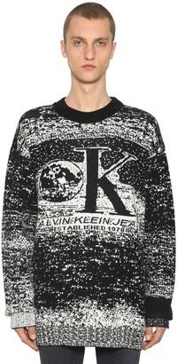 Calvin Klein Established 1978 Graphic Wool Blend Intarsia Sweater
