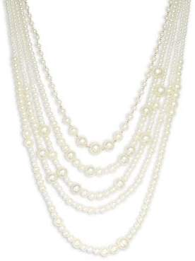 Design Lab Faux-Pearl Multi-Strand Necklace