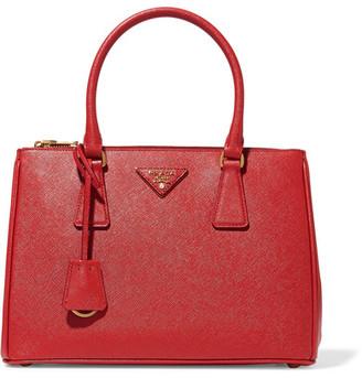 Prada - Galleria Medium Textured-leather Tote - one size $2,230 thestylecure.com