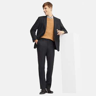 Uniqlo Men's Stretch Wool Flat-front Pants (online Exclusive)