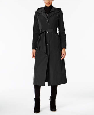 London Fog Hooded Belted Maxi Trench Coat $240 thestylecure.com
