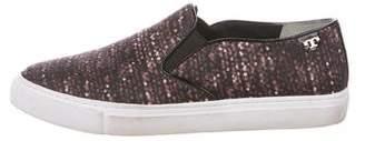 Tory Burch Printed Nylon Slip-On Sneakers