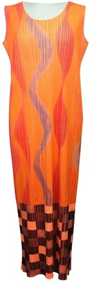 Pleats Please Orange Polyester Dresses