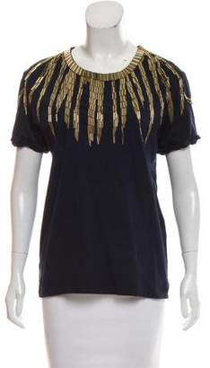 Pierre Balmain Embellished Short Sleeve T-Shirt