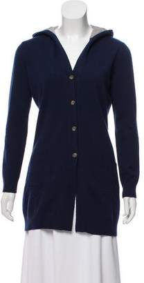 Fabiana Filippi Hooded Silk-Wool Cardigan